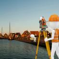 Bodemonderzoek in de haven van Marken van 19-21 september